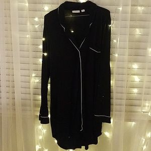 Nordstrom lingerie sleep button down gown